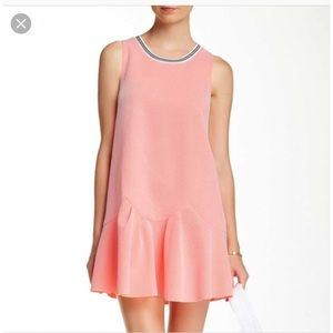 LUSH Neon Orange Drop Waist Dress